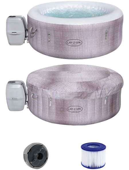 BESTWAY Whirlpool »LAY-Z-SPA® Cancun AirJet™«, ØxH: 180 x 66 cm, grau, 4 Sitzplätze