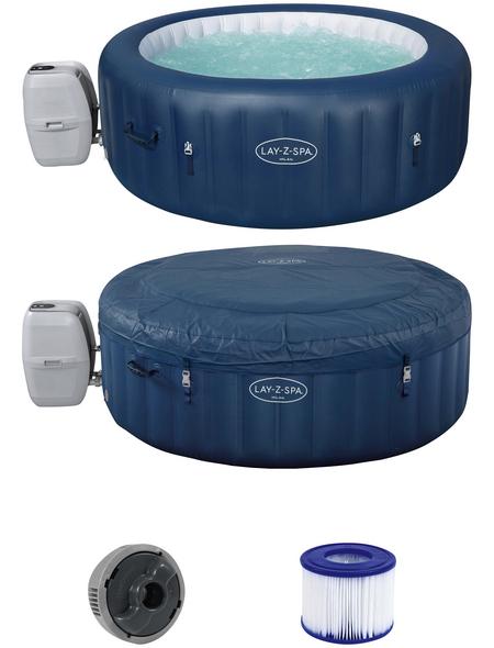BESTWAY Whirlpool »LAY-Z-SPA® Milan AirJet Plus™«, ØxH: 196 x 71 cm, dunkelblau, 6 Sitzplätze