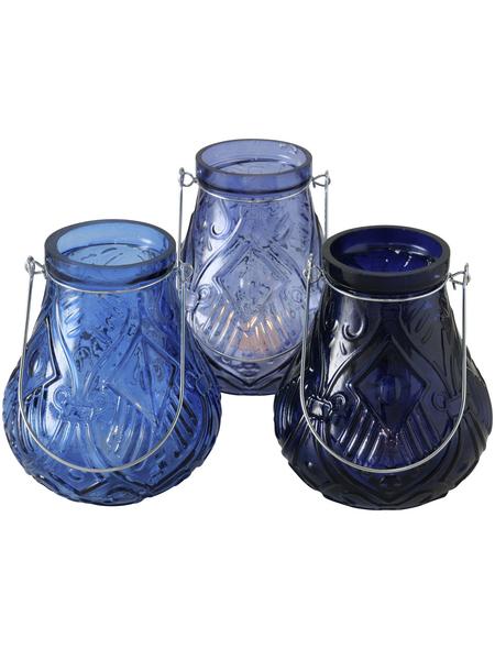 BOLTZE Windlicht »Arvid«, blau