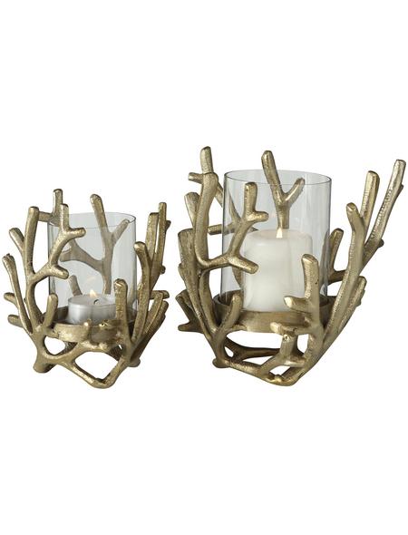 BOLTZE Windlicht »Coral«, goldfarben, Aluminium