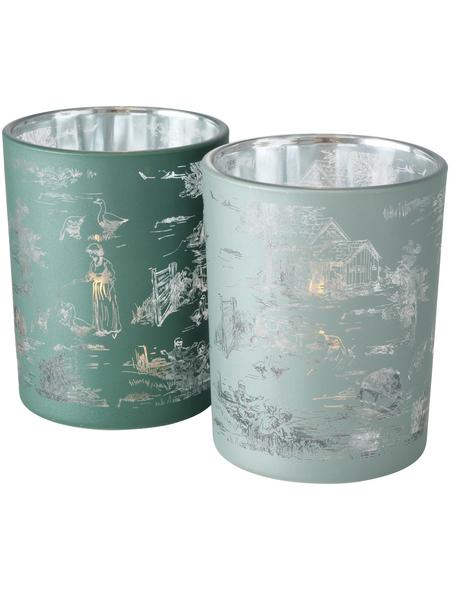 BOLTZE Windlicht »Jouy«, salbeigrün, Glas