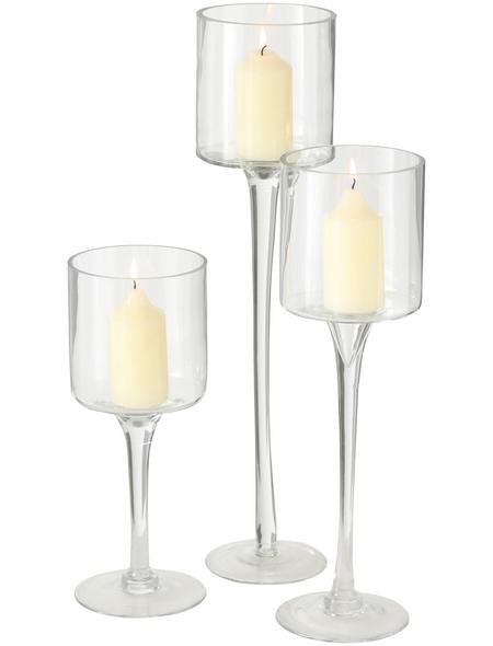 BOLTZE Windlicht, klar, Glas