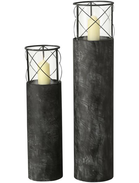 BOLTZE Windlicht »Lox«, grau, Eisen