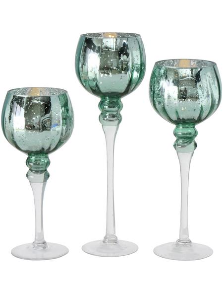 BOLTZE Windlicht »Manou«, salbeigrün, Glas