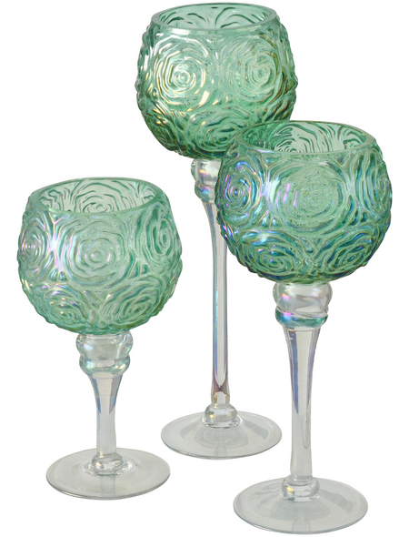 BOLTZE Windlicht »Minou«, hellgrün, Glas