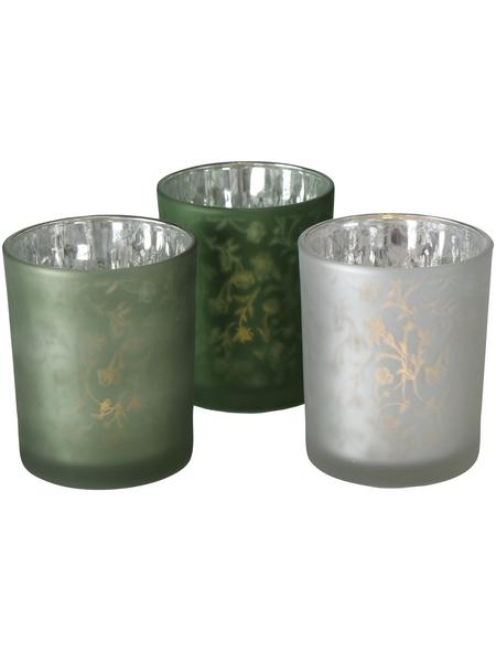 BOLTZE Windlicht »Silka«, bunt, Glas