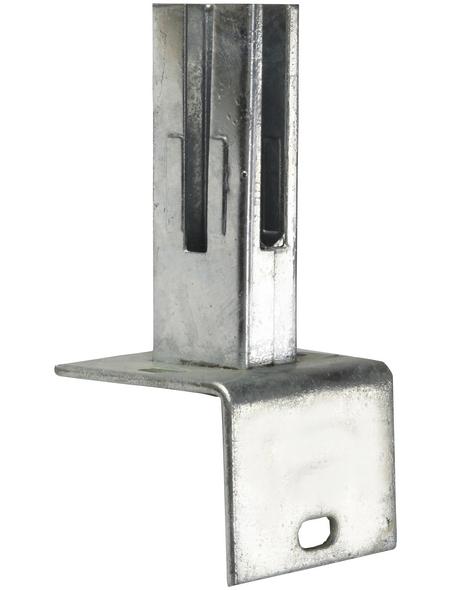 FLORAWORLD Winkel-Bodenplatte, Stahl, silberfarben