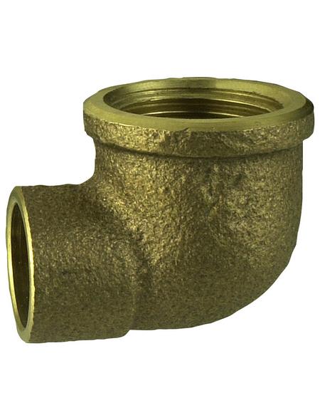 CORNAT Winkel, mit Innengewinde und Muffe, 15 mm x 1/2Z IG
