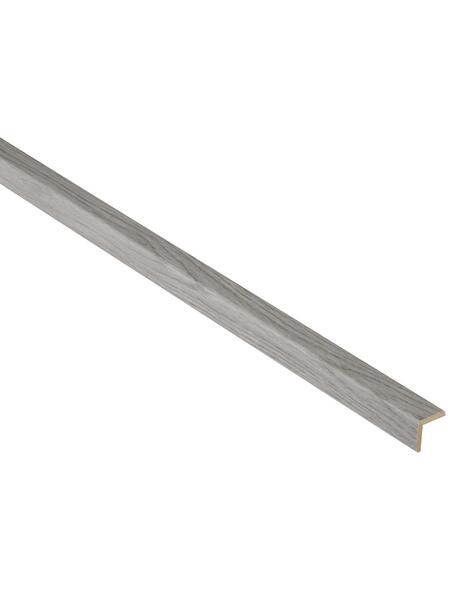 FN NEUHOFER HOLZ Winkelleiste, Esche grau, MDF, LxHxT: 240 x 2,2 x 0,45 cm