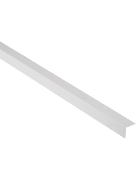 FN NEUHOFER HOLZ Winkelleiste, Uni weiß, Kunststoff, LxHxT: 240 x 2,5 x 0,14 cm