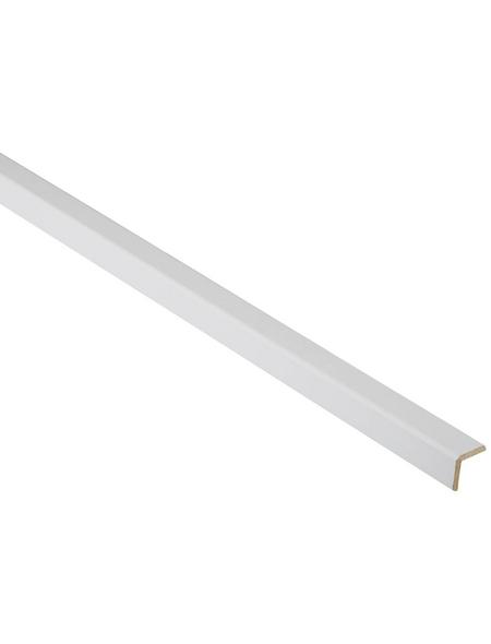 FN NEUHOFER HOLZ Winkelleiste, Uni weiß, MDF, LxHxT: 240 x 2,2 x 0,46 cm