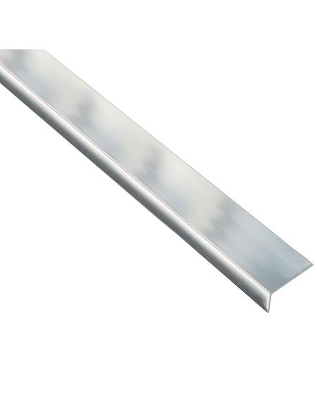 GAH ALBERTS Winkelprofil Alu chrom 2000 x 15 x 10 x 1 mm