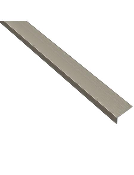 GAH ALBERTS Winkelprofil Alu silber 1000 x 20 x 10 x 1 mm