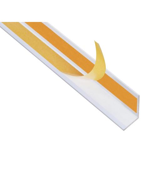GAH ALBERTS Winkelprofil Alu weiß 2600 x 20 x 20 x 1,5 mm