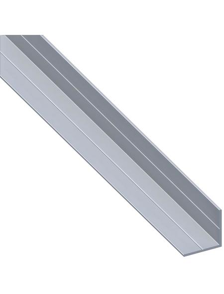 alfer® aluminium Winkelprofil combitech® Alu silber 1000 x 23,5 x 23,5 x 1,5 mm