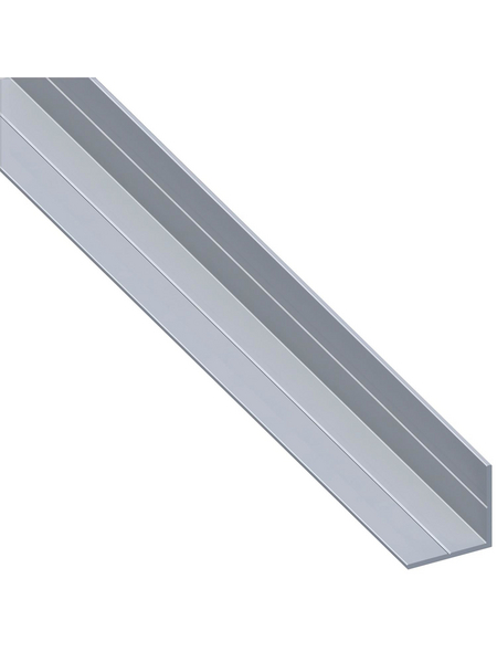 alfer® aluminium Winkelprofil combitech® Alu silber 1000 x 7,5 x 7,5 x 1 mm