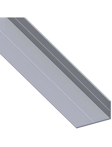 alfer® aluminium Winkelprofil combitech® Alu silber 2500 x 27,5 x 15,5 x 1,5 mm