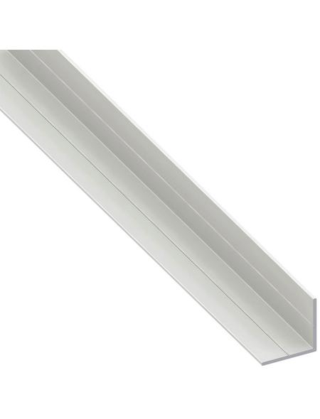 alfer® aluminium Winkelprofil combitech® PVC weiß 2500 x 15,5 x 15,5 x 1,5 mm
