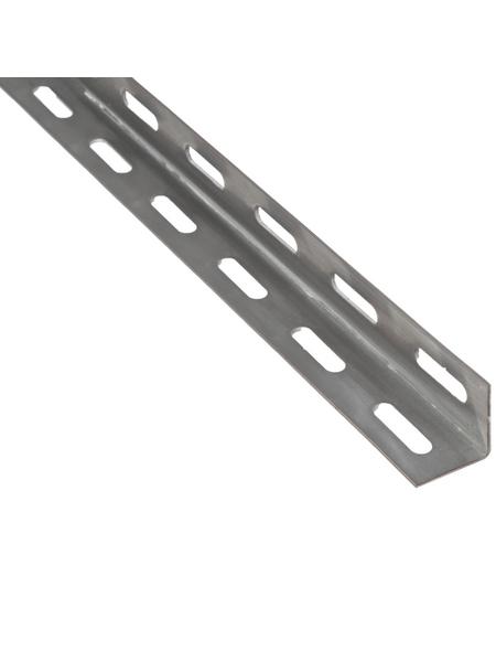 GAH ALBERTS Winkelprofil gelocht Rohstahl silber 1000 x 27 x 27 x 1,5 mm