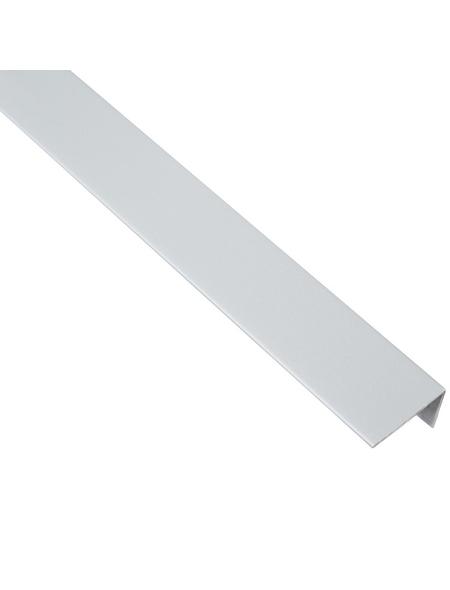 GAH ALBERTS Winkelprofil Kunststoff grau 1000 x 25 x 15 x 1 mm