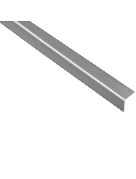 GAH ALBERTS Winkelprofil Kunststoff silber 2600 x 20 x 20 x 1,5 mm