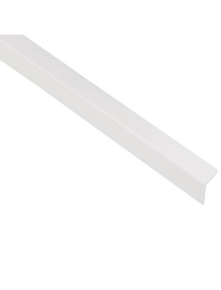 GAH ALBERTS Winkelprofil Kunststoff weiß 1000 x 20 x 20 x 1,5 mm