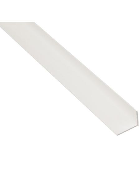 GAH ALBERTS Winkelprofil Kunststoff weiß 1000 x 25 x 15 x 1 mm