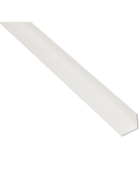 GAH ALBERTS Winkelprofil Kunststoff weiß 2600 x 10 x 10 x 1 mm