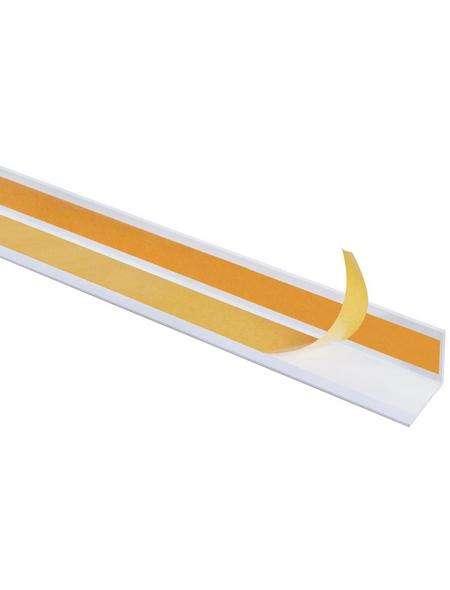 GAH ALBERTS Winkelprofil Kunststoff weiß 2600 x 15 x 15 x 1 mm