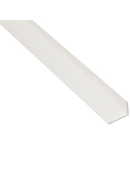 GAH ALBERTS Winkelprofil Kunststoff weiß 2600 x 20 x 10 x 1,5 mm