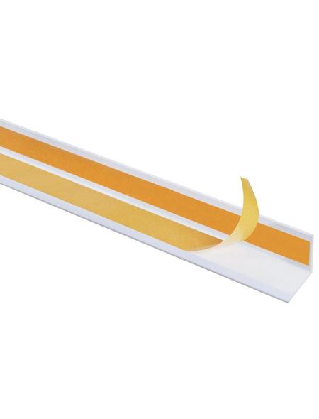 GAH ALBERTS Winkelprofil Kunststoff weiß 2600 x 20 x 20 x 1 mm