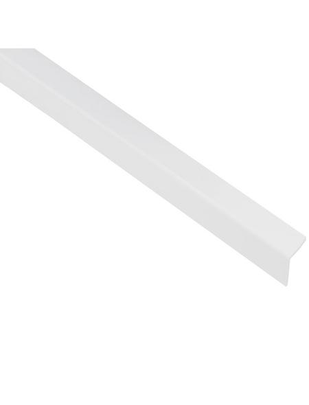GAH ALBERTS Winkelprofil Kunststoff weiß 2600 x 20 x 20 x 1,5 mm