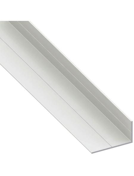 alfer® aluminium Winkelprofil PVC weiß 2500 x 19,5 x 11,5 x 1,5 mm