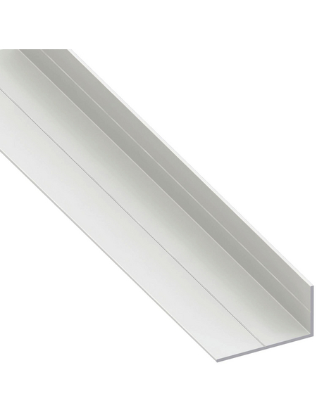 alfer® aluminium Winkelprofil PVC weiß 2500 x 35,5 x 19,5 x 1,5 mm