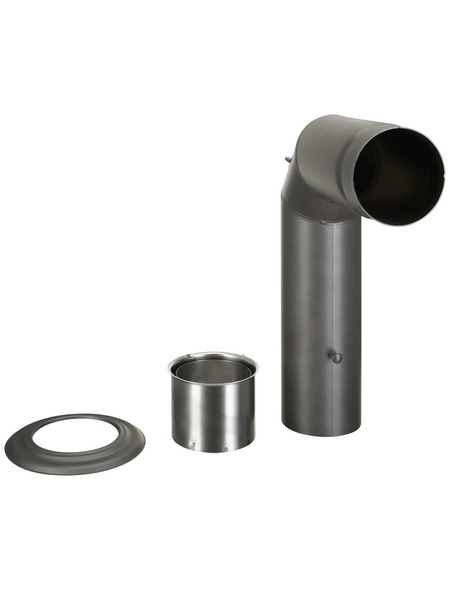 FIREFIX® Winkelrauchrohr, ØxL: 15 x 45 cm, Stärke: 2 mm, Stahl