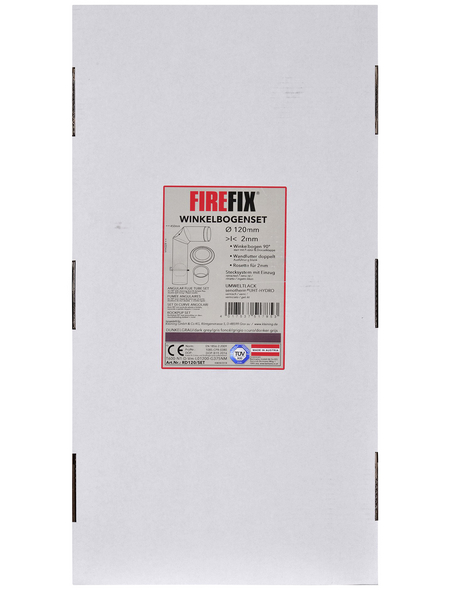 FIREFIX® Winkelrohrset, Ø 120 mm