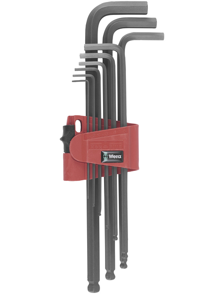 WERA Winkelschlüsselsatz, 950 PKL/9, 9-tlg. Set, 1,5 bis 10 mm