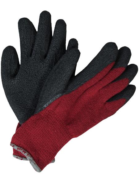 MR. GARDENER Winterhandschuh, rot/schwarz, Latexbeschichtet