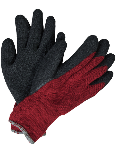 MR. GARDENER Winterhandschuh »Winter«, rot/schwarz, Latexbeschichtet