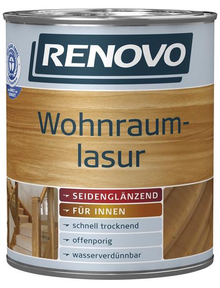 RENOVO Wohnraumlasur, für innen, 0,75 l, kalkweiß, seidenglänzend