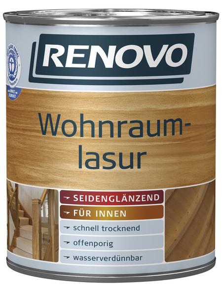 RENOVO Wohnraumlasur, für innen, 2,5 l, kalkweiß, seidenglänzend