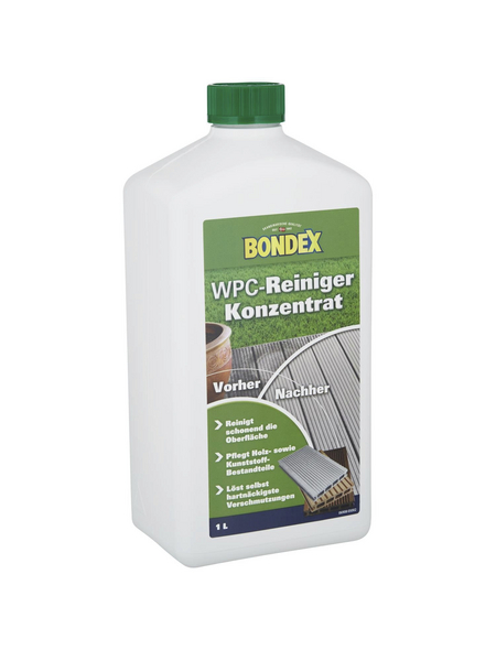 BONDEX WPC-Reinigerkonzentrat, für Holz/Holzwerkstoffe, Kunststoffflasche, 1 l