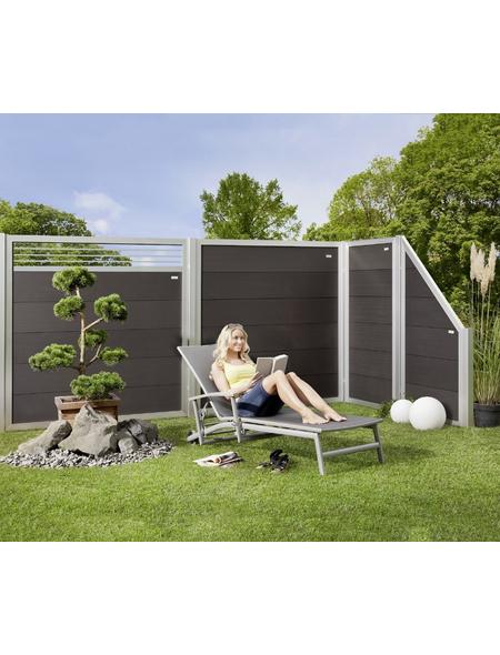 MR. GARDENER WPC-Sichtschutzelement »Moglia«, Holz-Kunststoff-Verbundwerkstoff, HxL: 180 x 90 cm