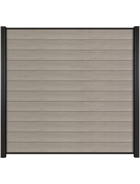 MR. GARDENER WPC-Steckzaun-Bohlenset »Turino«, Holz-Kunststoff-Verbundwerkstoff, HxL: 90 x 179 cm