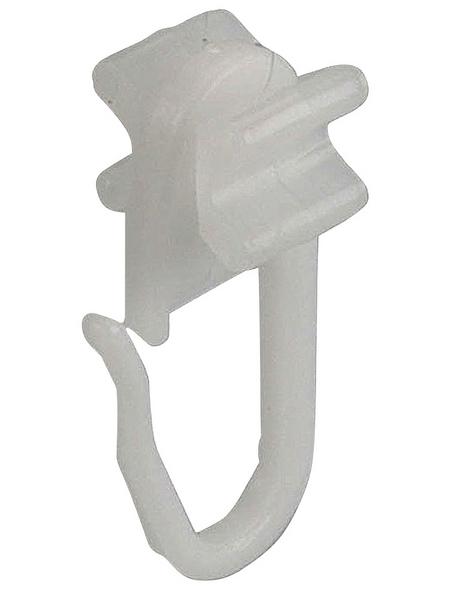 LIEDECO X-Gleiter, mit Faltenlegehaken, Weiß, 20 Stück