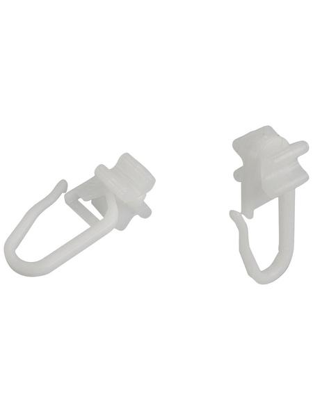 LIEDECO X-Gleiter, mit Faltenlegehaken, Weiß, 25 Stück