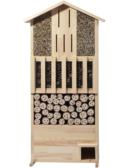 DOBAR XXL Insektenhotel-Wand mit Igelhaus