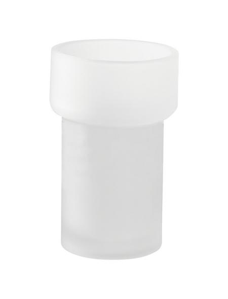 TIGER Zahnputzbecher »Items«, Glas, weiß/transparent, rund