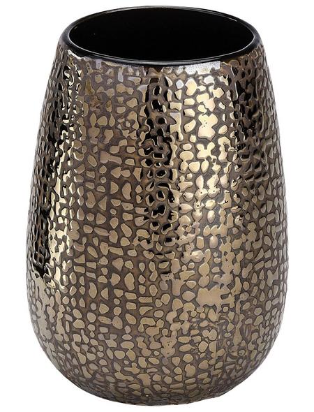 WENKO Zahnputzbecher, Keramik, braun, rund