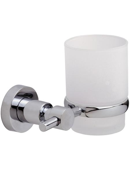 TESA Zahnputzbecher »Loxx«, Metall, Metallfarben
